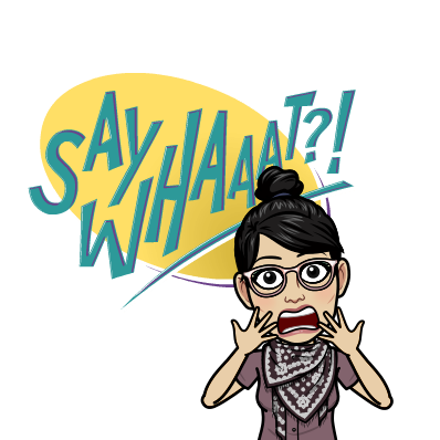 what my bitmoji would have looked like had I had bitmoji when my friend showed me hers.